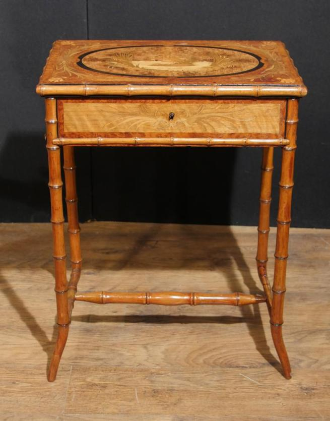 Antique Regency Ladies Work Box Table Brighton Pavillion