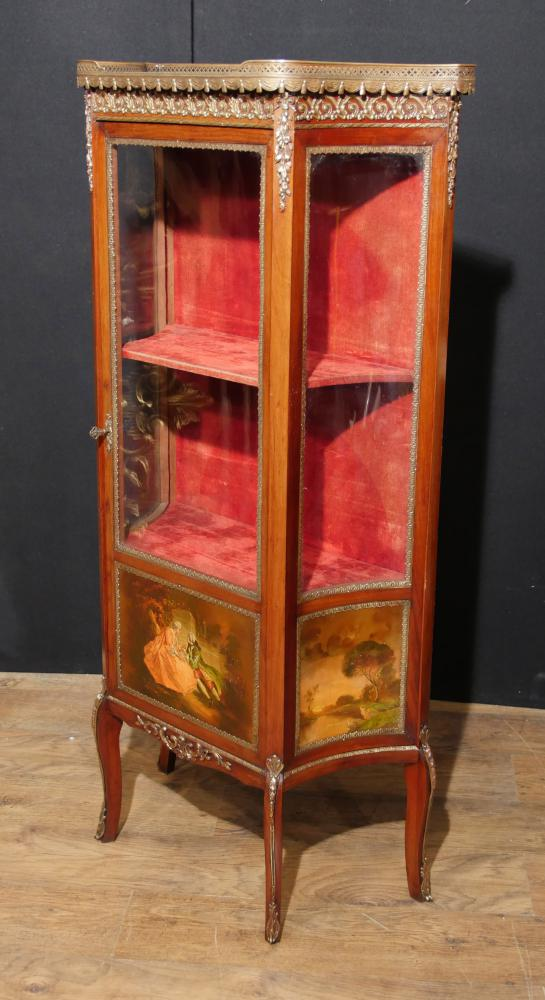 Antique Vernis Martin Display Cabinet 1890 Angela Kaufman Vitrine