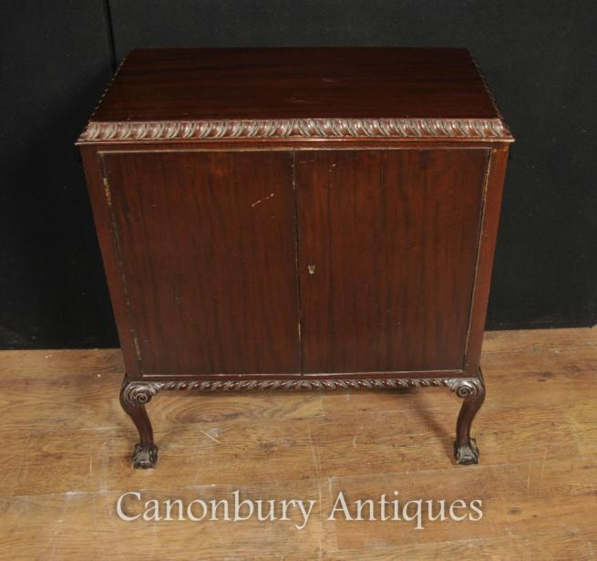 Antique Victorian Mahogany Chest Cabinet Pie Crust