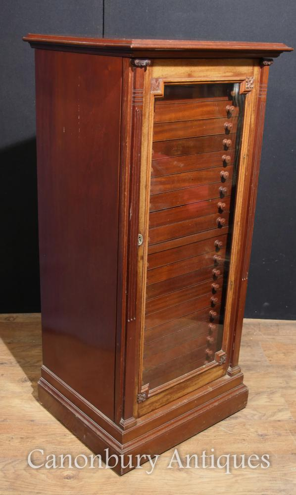 Antique Victorian Walnut Specimen Cabinet Chest Interiors Salvage
