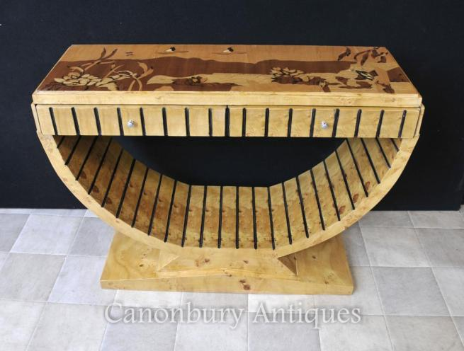 Art Deco Oggee Console Table Inlay Top 1920s Furniture