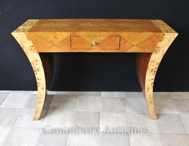 Art Deco Oggee Console Table Lozenge Inlay Interiors