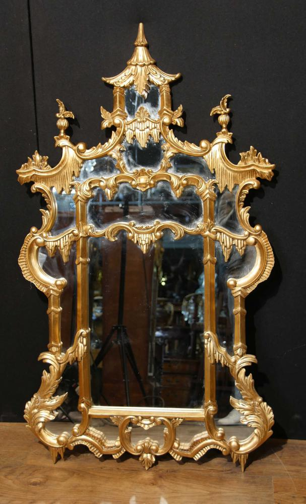 Chinese Chippendale Giltwood Mirror English Interiors