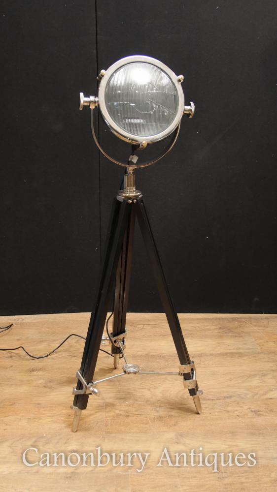 Chrome Tripod Studio Lamp Architectural Floor Light