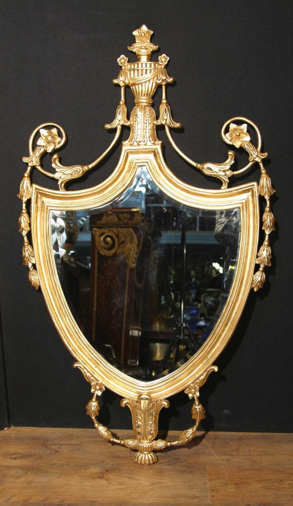 English Adams Gilt Pier Mirror Glass Regency Mirrors