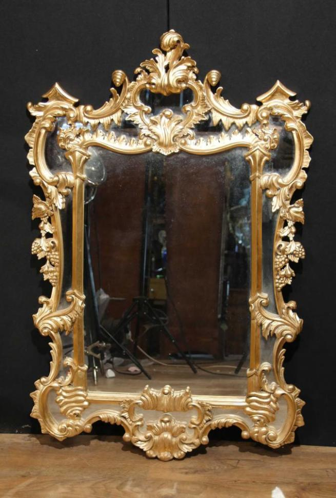 English Giltwood Chippendale Pier Mirror Rococo Mirrors