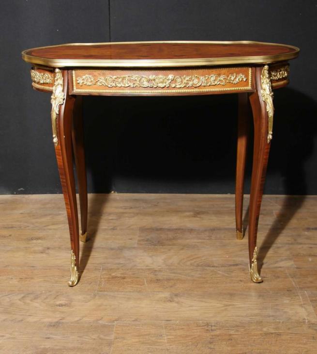 French Empire Walnut Side Centre Table Ormolu Mounts