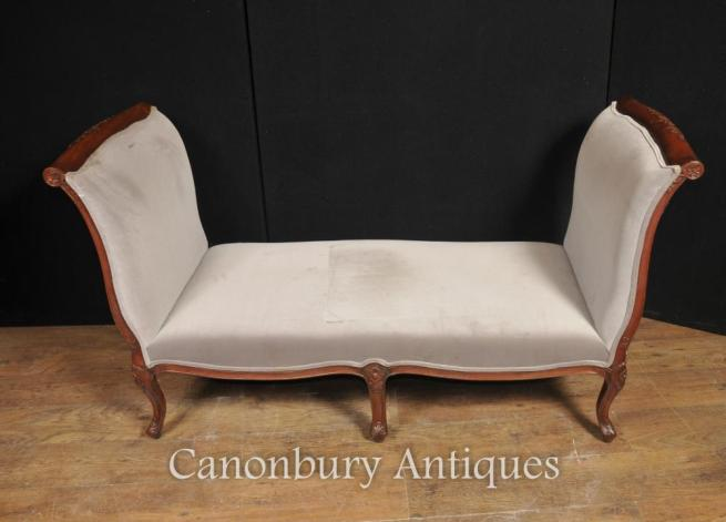 Regency Couch Day Bed Mahogany Chaise Loungue