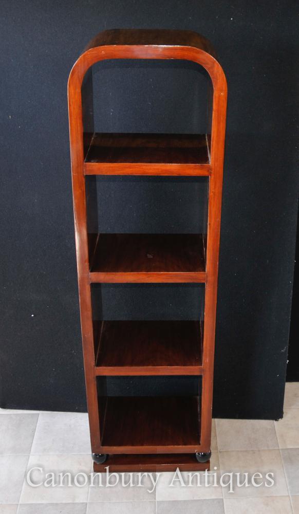 Single Art Deco Bookcase Rosewood Shelf Unit