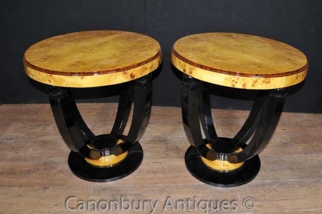 Art Deco Cocktail Tables Side Tables Walnut Interiors