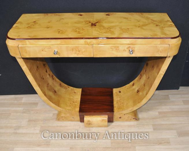 Art Deco Table Blonde Ogee Walnut Tables Interiors