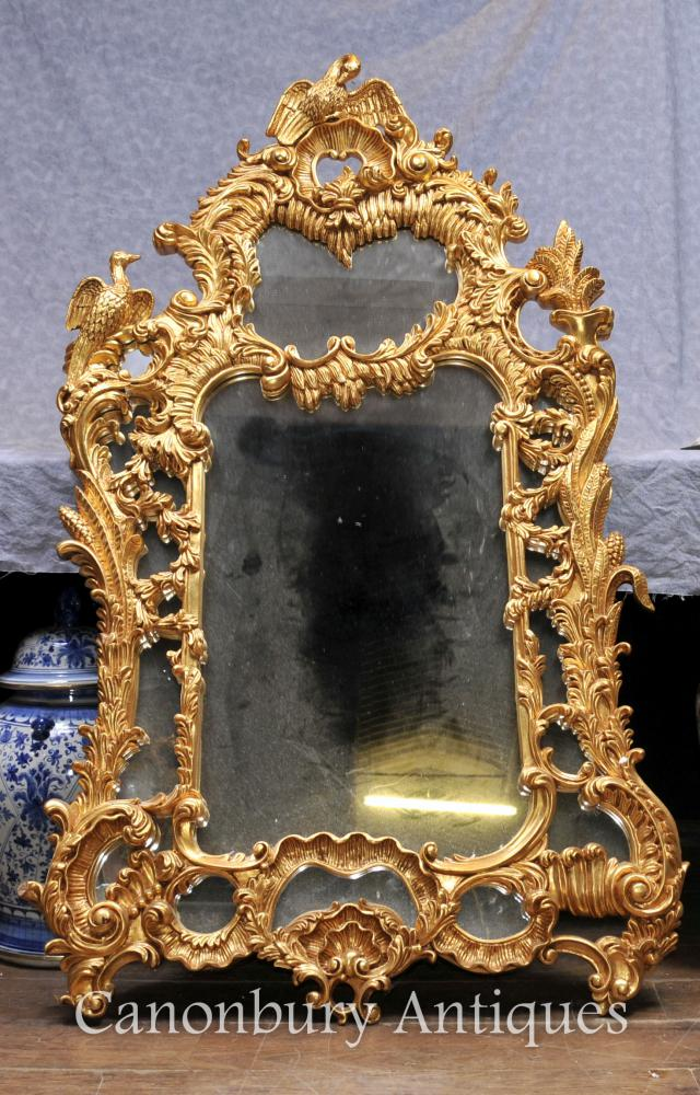 Carved Gilt Chippendale Pier Mirror Glass English Mirrors