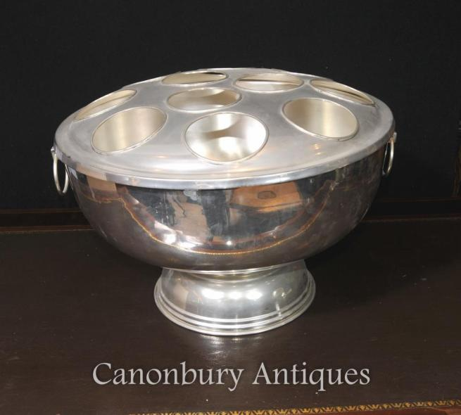 Large Victorian Silver Plate Wine Champagne Bucket Cooler