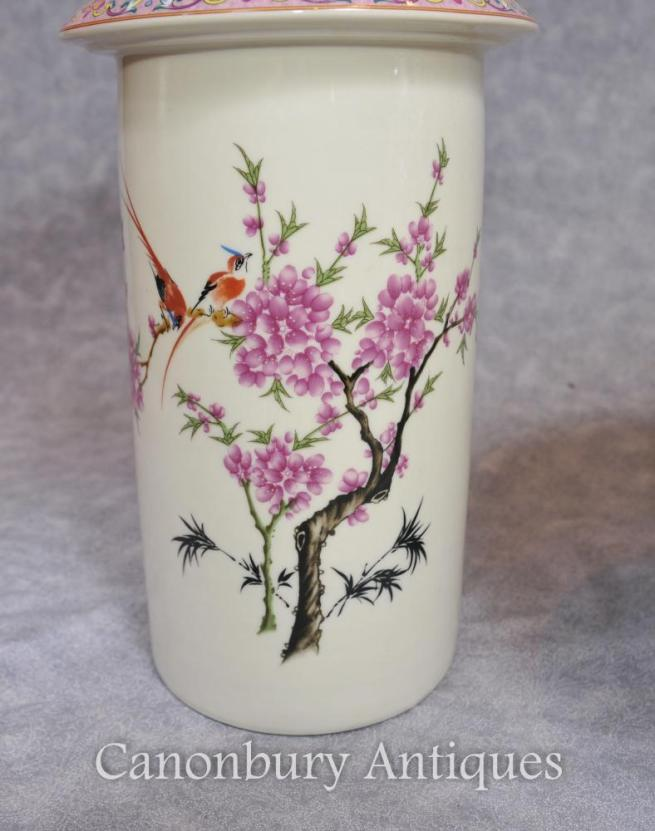 Single Chinese Famille Rose Porcelain Rose Vase Reticulated