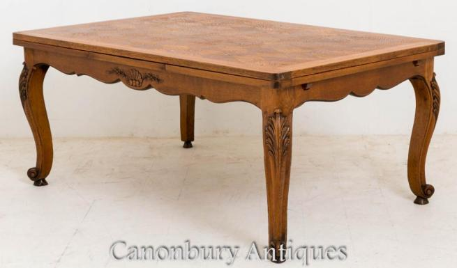 Antique French Farmhouse Oak Dining Table 1890