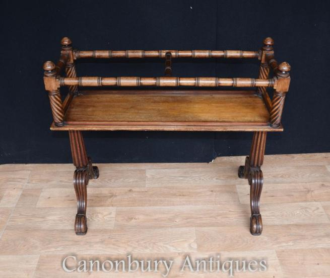 Antique Mahogany Gillows Wine Rack Side Table