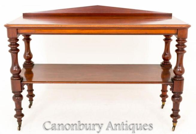 Antique Victorian Mahogany Buffet Server Sideboard 1850