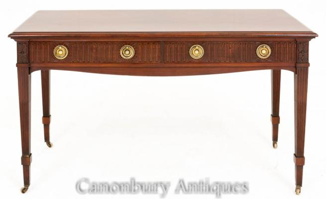 Antique Victorian Side Console Table Mahogany 1880