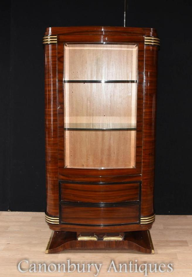 Art Deco Display Cabinet Rosewoood Furniture