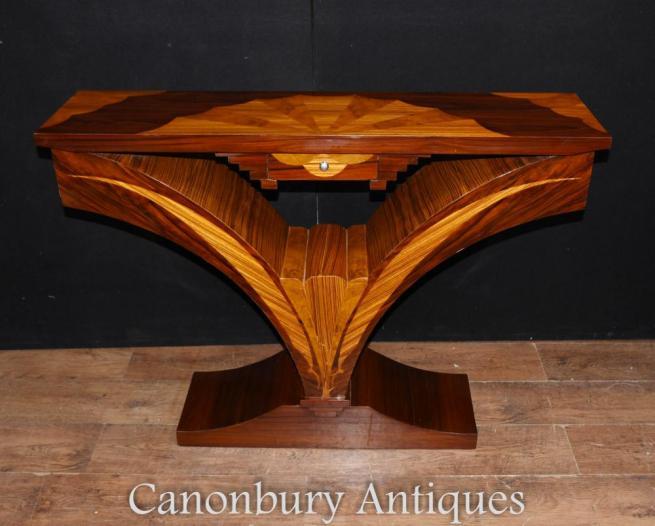 Art Deco Hall Console Table Inlay Interiors