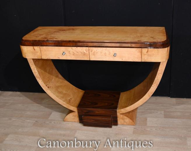Art Deco Hall Console Table