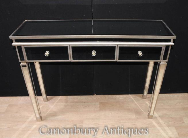 Art Deco Mirrored Console Dressing Table