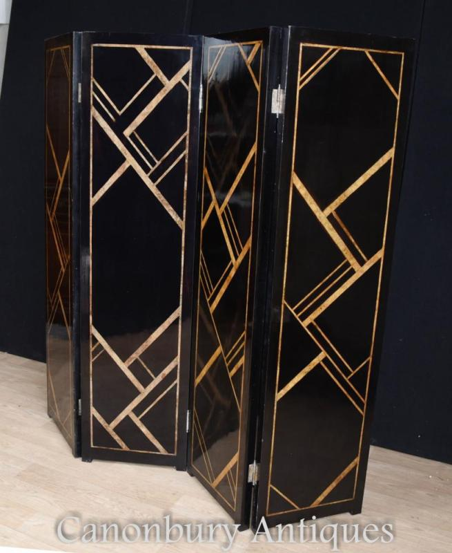 Art Deco Screen Room Divider Lacquer
