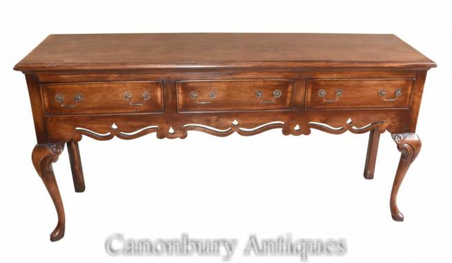 English Farmhouse Oak Dresser Base Sideboard Server