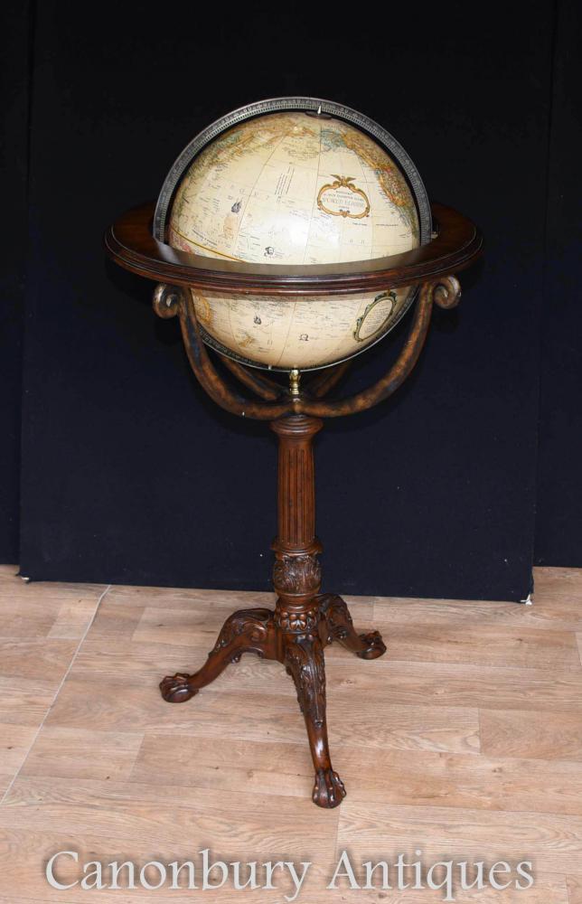 English Mahogany World Globe Replogle World Classic Series