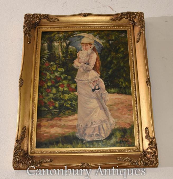 English Pre-Raphaelite Oil Painting Ophelia Maiden River Portrait