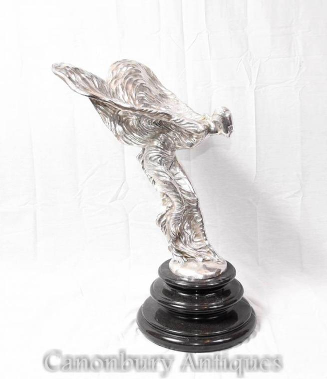 Flying Lady Silver Bronze Figurine Charles Sykes Statue