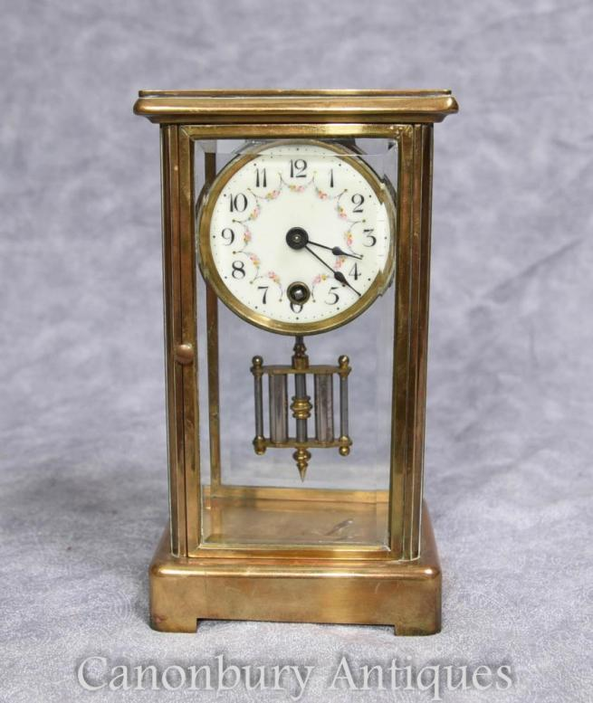 French Art Deco Antique Brass Carriage Clock 1930s Antique