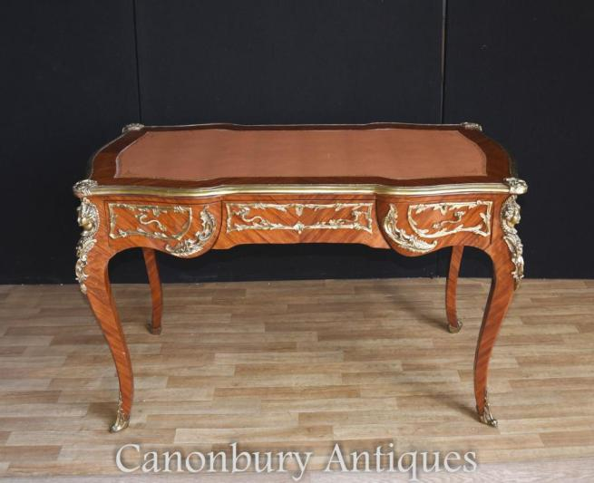 French Empire Bureau Plat Desk Writing Table 1900