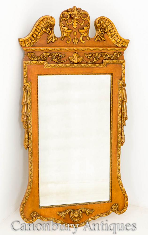 George I Walnut Gilt Hall Pier Mirror
