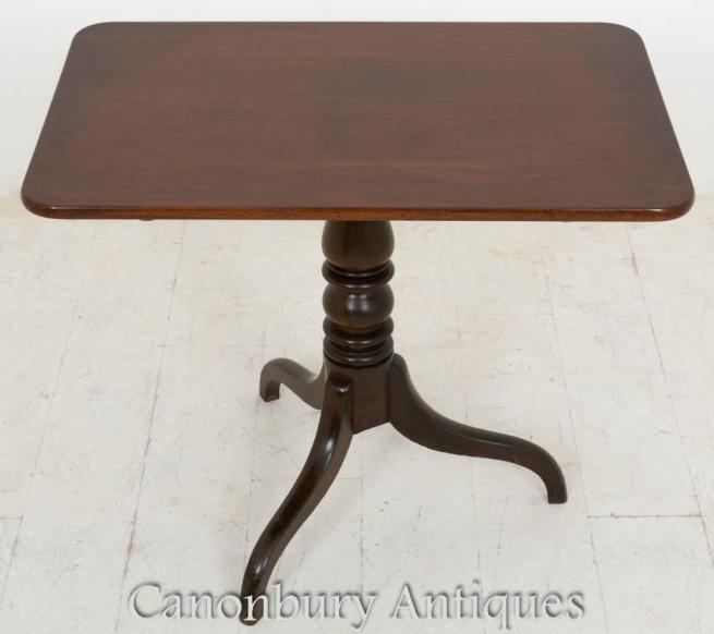 George III Wine Table Mahogany Side Table 1800
