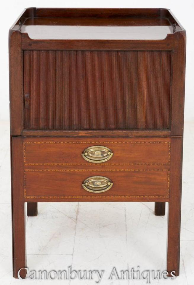 Georgian Bedside Chest Nightstand 1800 Mahogany