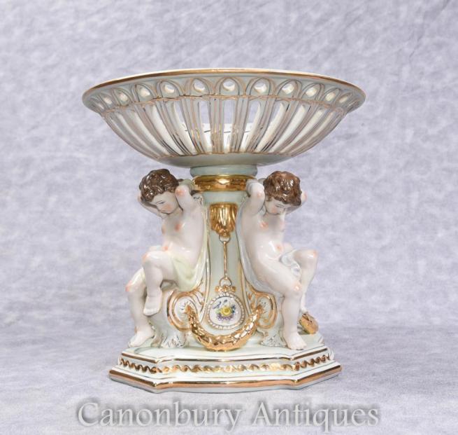 German Dresden Porcelain Cherub Tureen Dish