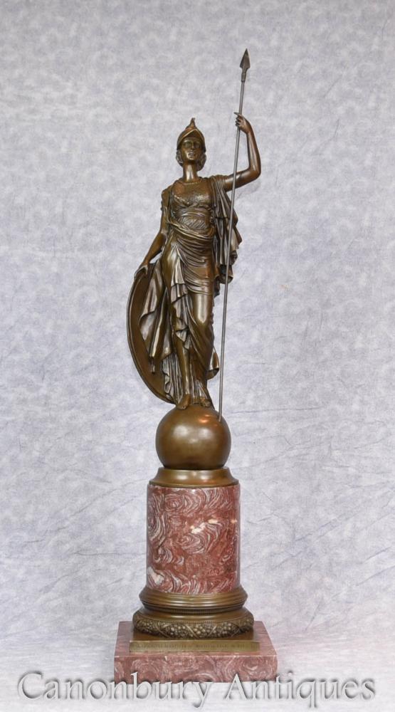 Large Bronze Statue Britannia Roman Briton Casting Figurine
