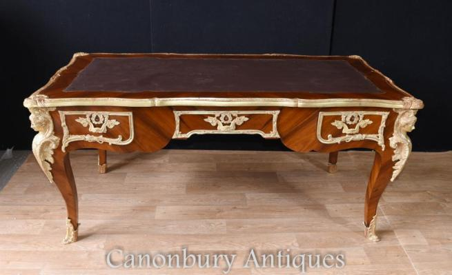 Large French Empire Bureau Plat Desk Writing Table