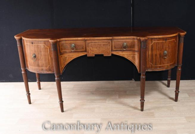Large Gillows Mahogany Sideboard Buffet Sideboard Circa 1780