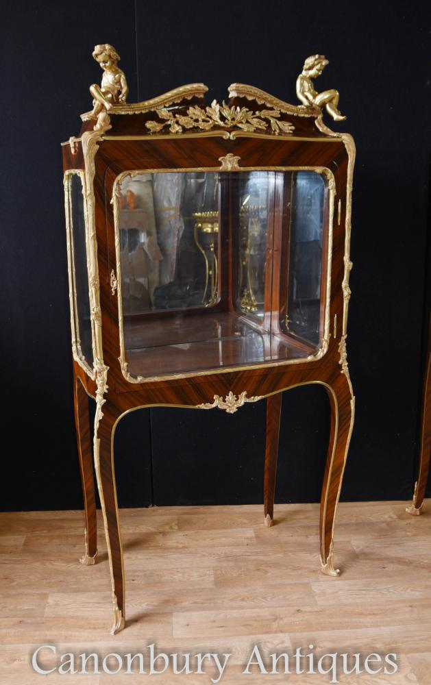 Louis XV Kingwood Display Cabinet Vitrine Bijouterie