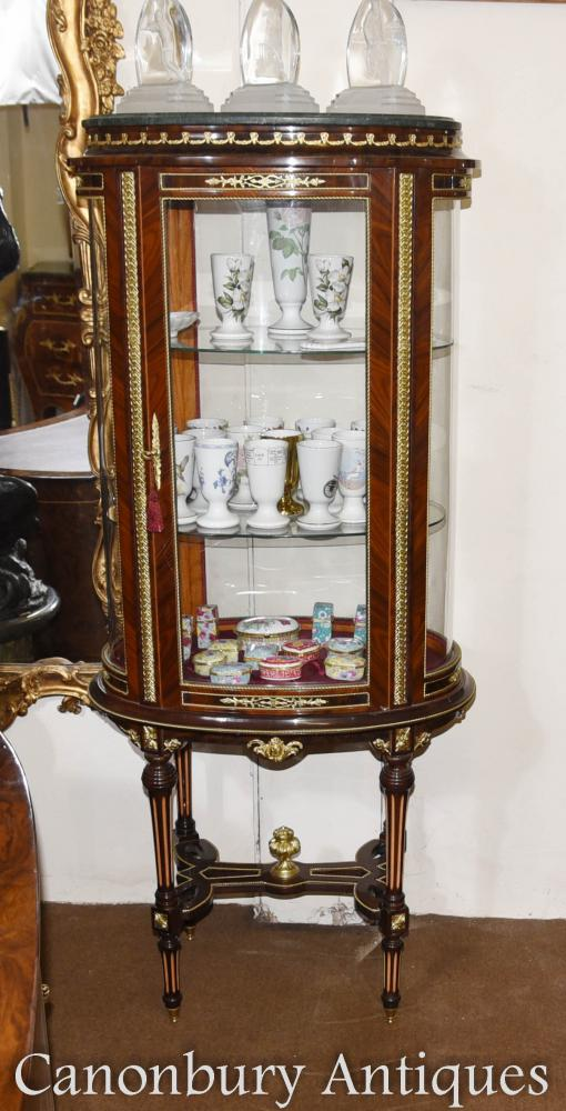 Louis XVI Glass Display Cabinet Jewellery Case Bijouterie