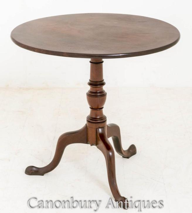 Mahogany George II Mahogany Wine Side Table Snap Top 1750