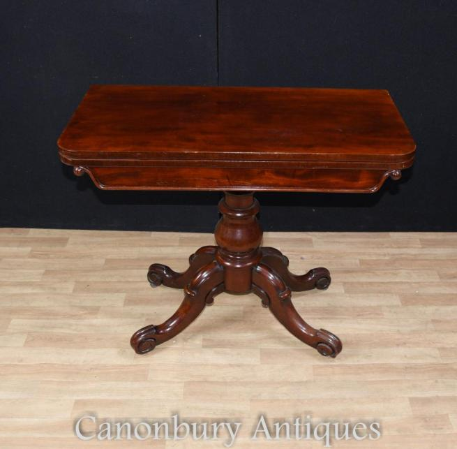 Mahogany Regency Card Games Table