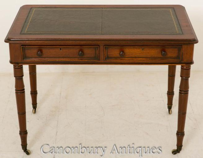 Mid Victorian Writing Table Mahogany Desk 1860