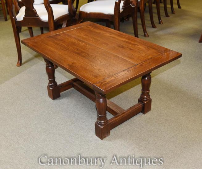 Oak Farmhouse Coffee Table Refectory Side Table