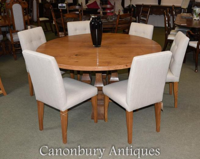 Pippy Oak Kitchen Refectory Table and Chair Set Farmhouse Dining Suite