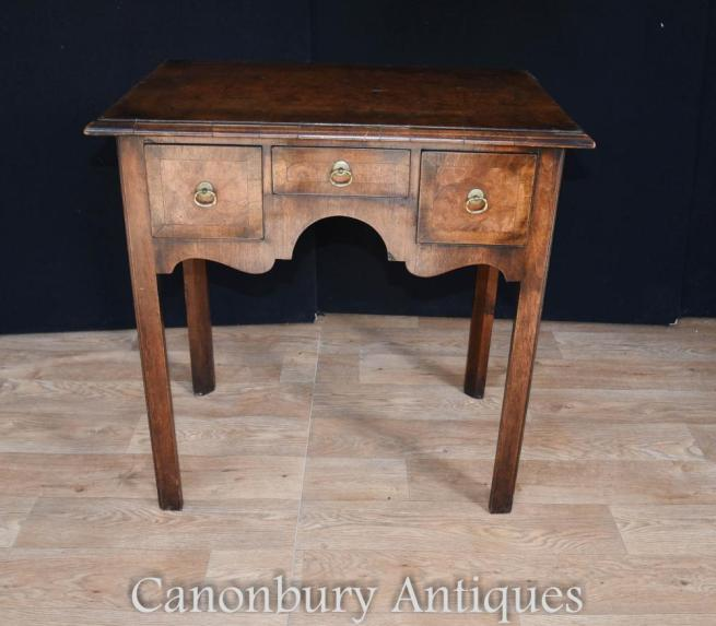 Queen Anne Low Boy Elm Wood Table 1820