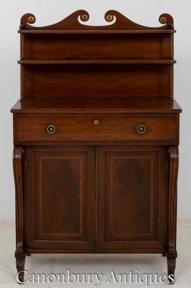Regency Chiffonier Mahogany Sideboard Cabinet 1800