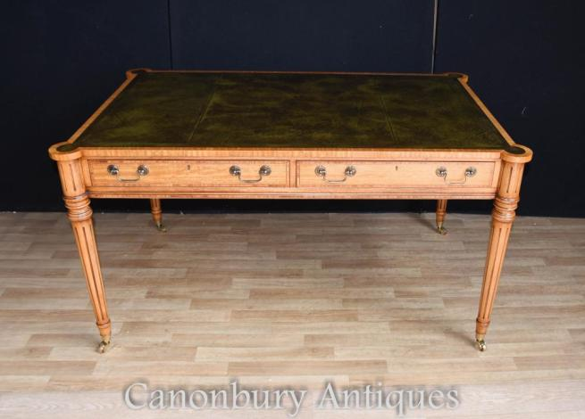 Regency Gillows Writing Table Desk Leather Top Bureau
